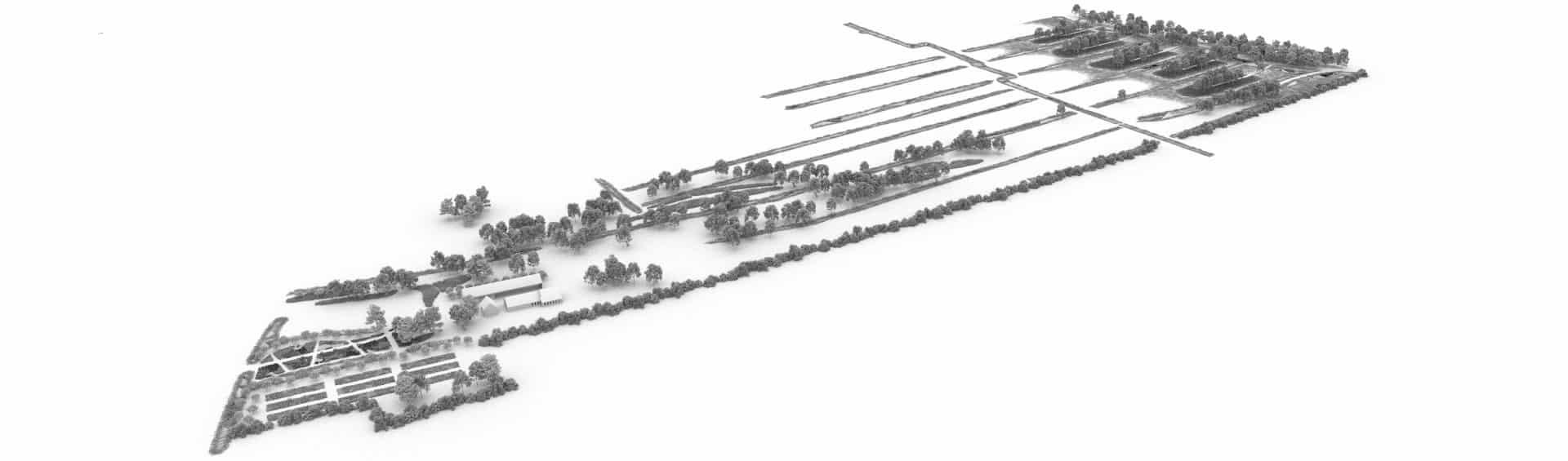 Model voor 3D ontwerp landschap